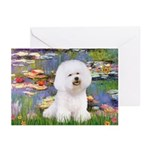 Llies & Bichon Greeting Cards (Pk of 10)
