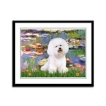 Llies & Bichon Framed Panel Print