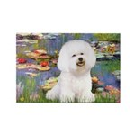Llies & Bichon Rectangle Magnet (10 pack)