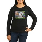 Llies & Bichon Women's Long Sleeve Dark T-Shirt