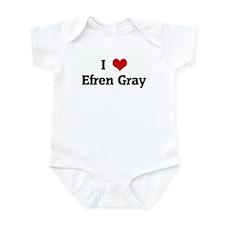 I Love Efren Gray Onesie