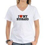 I Love My Husband Women's V-Neck T-Shirt