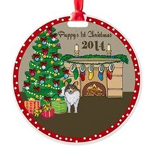 2014 Sheltie 1St Christmas Ornament