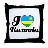 I love Rwanda Throw Pillow