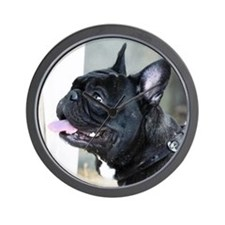 Black French Bulldog  Wall Clock