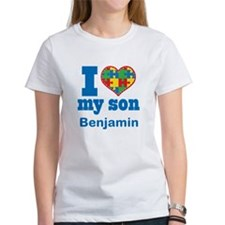 Personalized Autism Son heart T-Shirt
