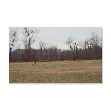Running Deer 20x12 Wall Decal