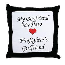 Firefighter's Girlfriend Throw Pillow