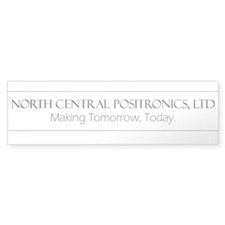 North Central Positronics black Bumper Bumper Sticker