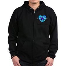 Wound Care nurse Blue Whites Zip Hoodie