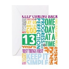 Thirteen Years Greeting Cards