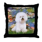 Llies & Bichon Throw Pillow