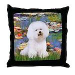 Llies & Bichon Throw Pillow