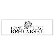 Rehearsal with Drama Masks Bumper Bumper Sticker