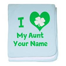 I Heart My Aunt (Shamrock) baby blanket