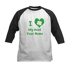 I Heart My Aunt (Shamrock) Baseball Jersey