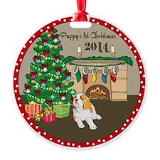 2014 St Bernard 1St Christmas Round Ornament