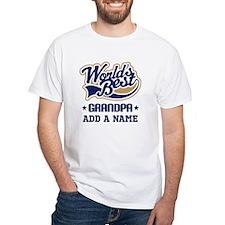 Personalized Worlds Best Grandpa T-Shirt