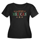 Mexican Moms Women's Plus Size Scoop Neck Dark T-S