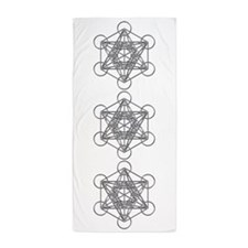 Metatrons Cube Beach Towel