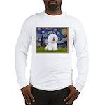 Starry Night Bichon Long Sleeve T-Shirt