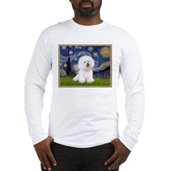 Starry Night Bichon Long Sleeve T-Shirt