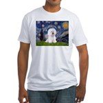 Starry Night Bichon Fitted T-Shirt