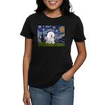 Starry Night Bichon Women's Dark T-Shirt