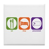 Eat Sleep Procurement Tile Coaster