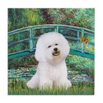 Bridge & Bichon Tile Coaster