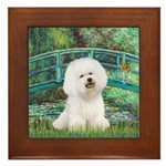 Bridge & Bichon Framed Tile