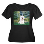 Bridge & Bichon Women's Plus Size Scoop Neck Dark