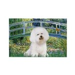 Bridge & Bichon Rectangle Magnet