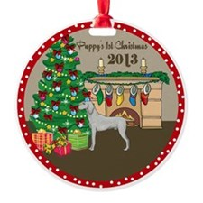 2013 Weimaraner 1St Christmas Ornament
