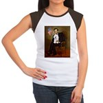 Lincoln & his Bichon Women's Cap Sleeve T-Shirt