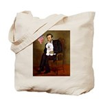 Lincoln & his Bichon Tote Bag