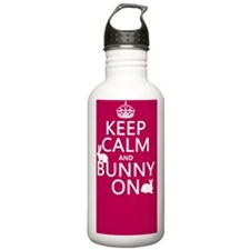 Keep Calm and Bunny On Water Bottle