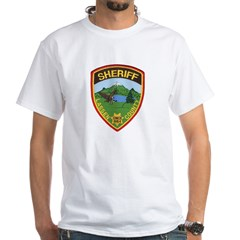 Lassen County Sheriff White T-Shirt