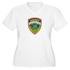 Lassen County Sheriff Women's Plus Size V-Neck T-S