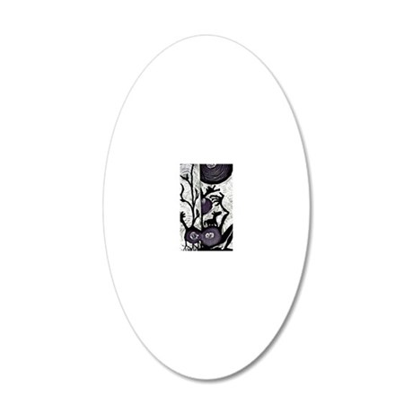 shadow puppetry 20x12 Oval Wall Decal