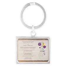 17-country-wedding_purple Landscape Keychain
