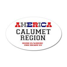 AMERICA REGIONS - CALUMET RE 35x21 Oval Wall Decal
