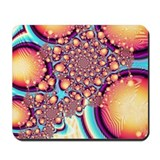 Golden Acorns Fractal Mousepad