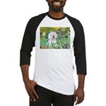 Irises and Bichon Baseball Jersey
