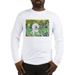 Irises and Bichon Long Sleeve T-Shirt