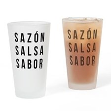Sazon Salsa Sabor Drinking Glass
