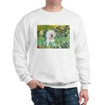 Irises and Bichon Sweatshirt