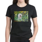 Irises and Bichon Women's Dark T-Shirt
