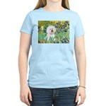 Irises and Bichon Women's Light T-Shirt