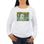 Irises and Bichon Women's Long Sleeve T-Shirt
